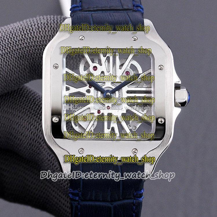 Beste Version TWF 2020018 2020033 Skeleton-Zifferblatt Schweizer 4S20 Automatische mechanische mechanische 0015 mens watch 316l stahlgehäuse leder ewigity uhren 0007