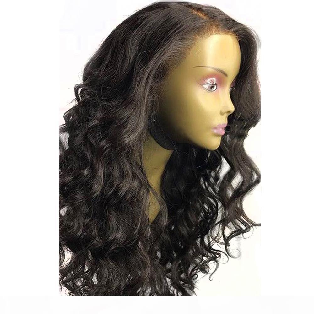 C 360 Full Full Dentelle Perruques de cheveux humains Perruques corporelles Pre Virgin Vierge Brésilien Brésilien 360 Perruque de dentelle avec noeuds blanchis
