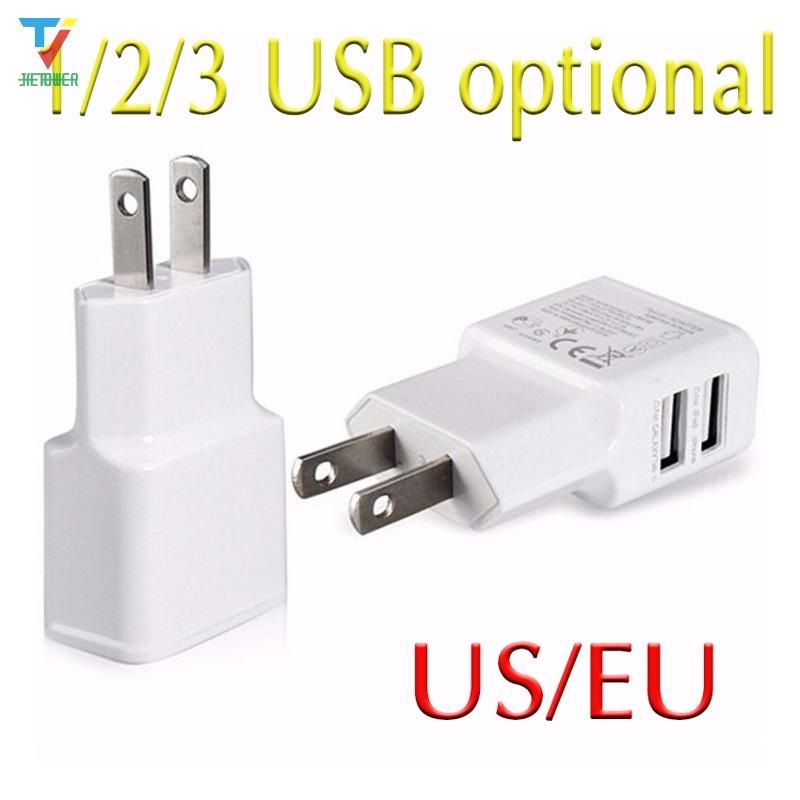 5V Reise EU-Plug-Wand USB-Ladegerät Adapter für Samsung Galaxy S7 S6 S5 Anmerkung 7 6 5 für iPhone 7 6 5 Alle Telefone Kostenloser Versand