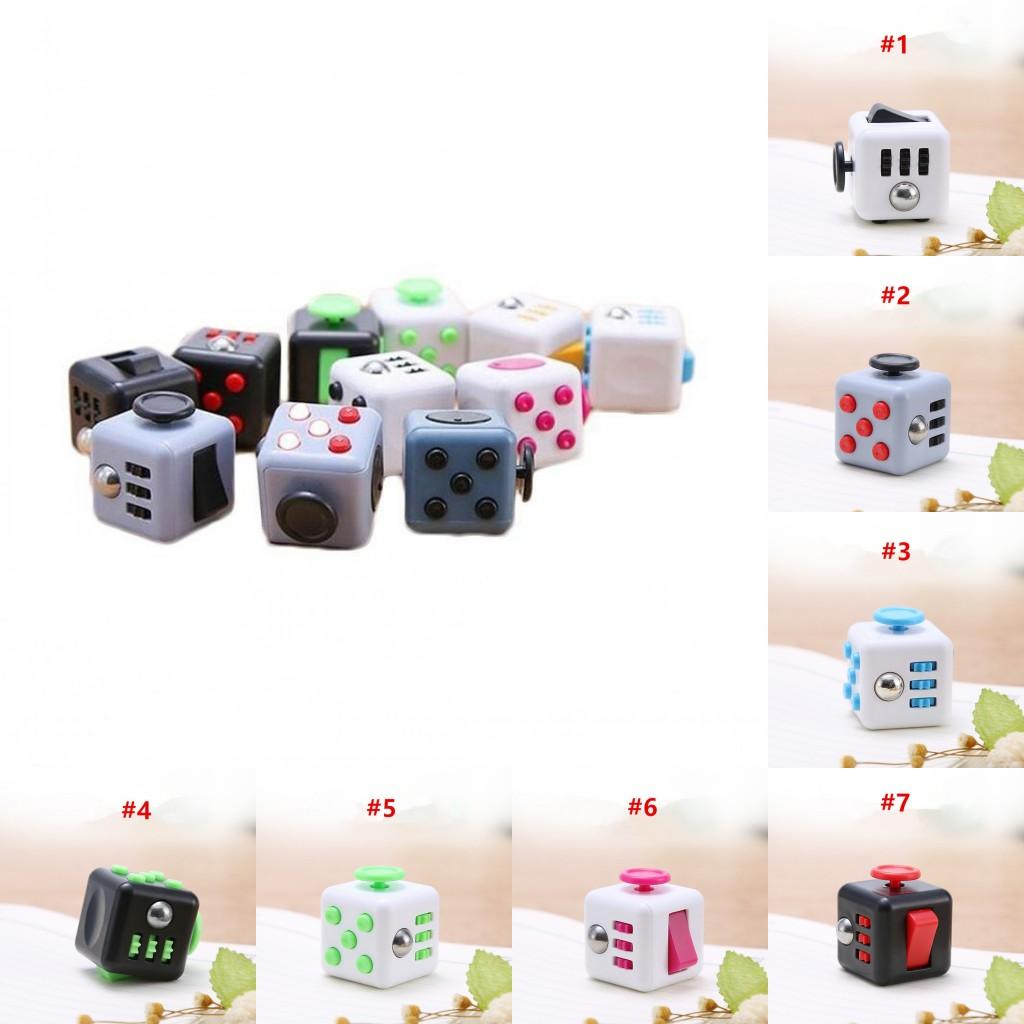 Fidget Cubes Fidget Toy Pack per bambini Adulti Adulti Solles Sensory Toy per Autism Special Bisans Ansia Stress Stress Reliever Consegna veloce