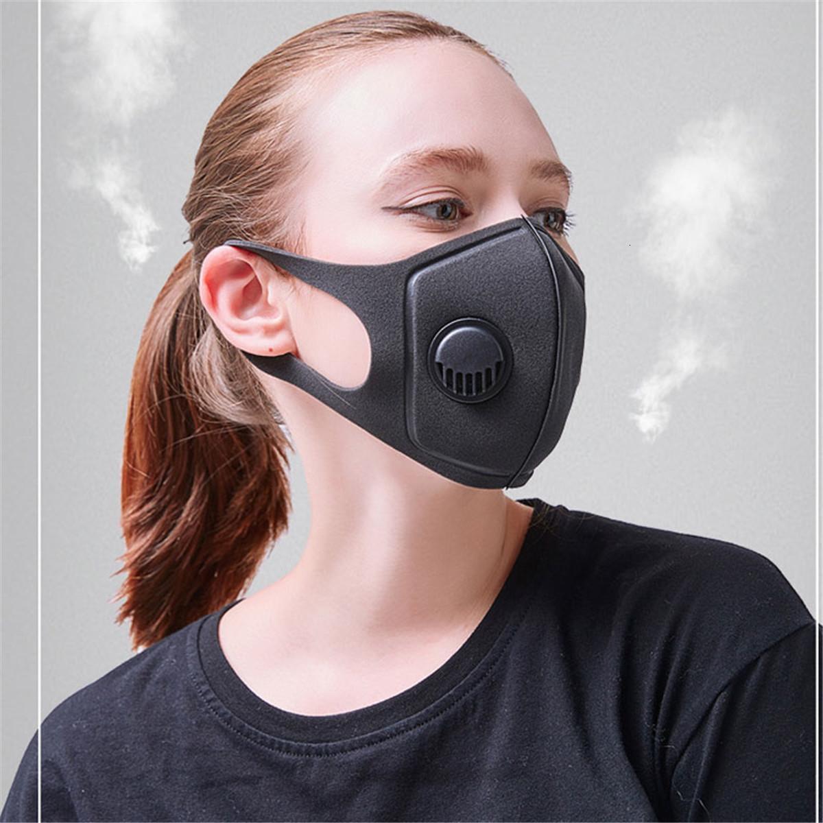 Schwarzwaschbarer Versand für Gesicht Atemmask-Ventilmaske mit Filter Anti-Dust und, Adju JZVP