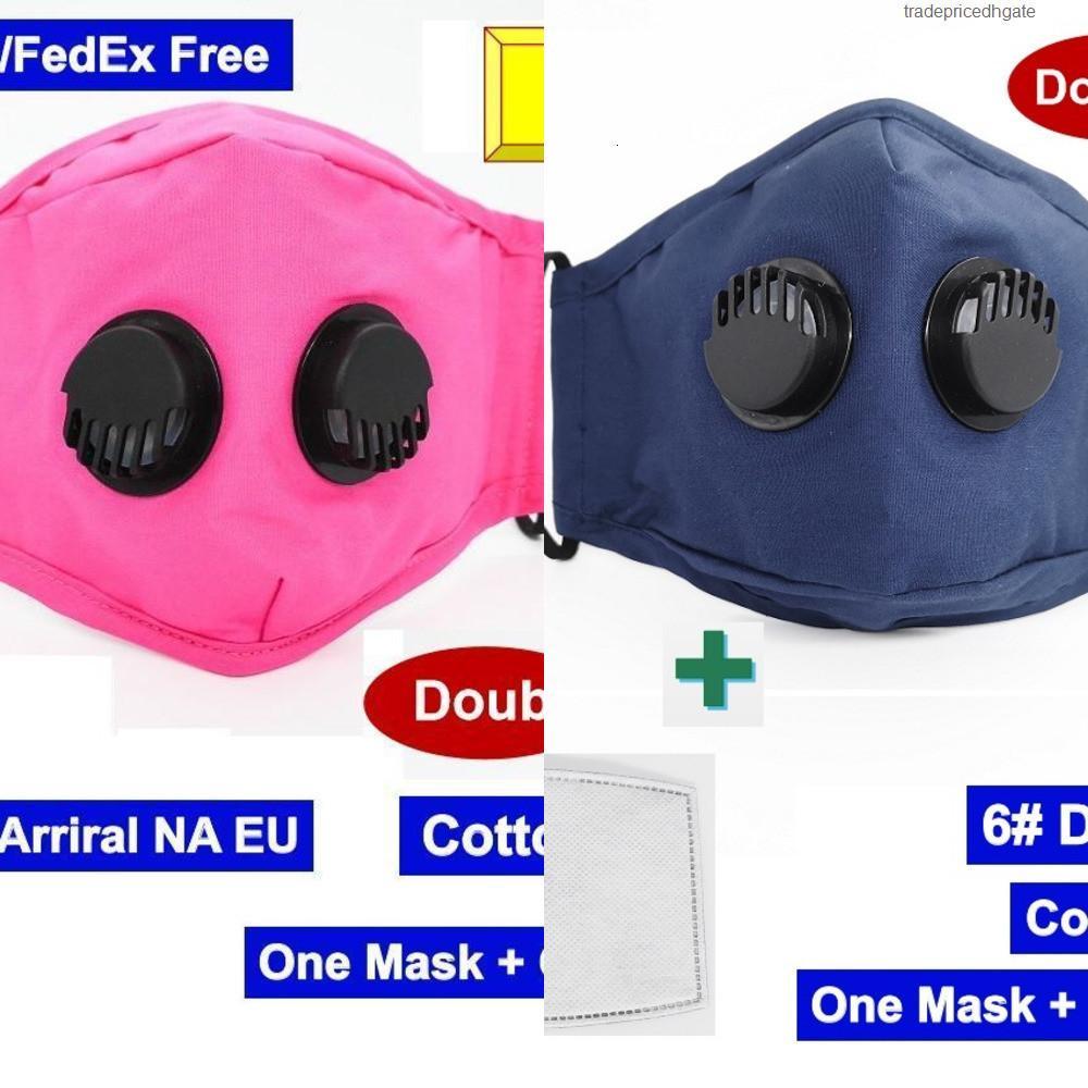 Day Ship Design Designer DHL Cara de algodón 1 máscara Doble 2 Válvulas Respiradores R SZH4 6x0g