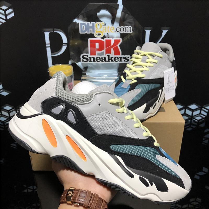 3M 반사 웨이브 러너 Kanye West 700 V2 단단한 회색 정적 자석 청록색 카본 블루 러닝 신발 남성 디자이너 신발 여성 정적 운동화