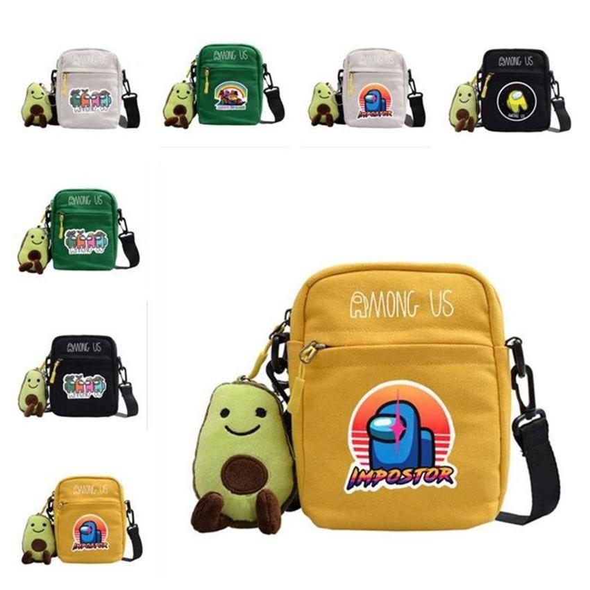 Игра Среди нас сундук на груди Crossbody Bags Fanny Pack мультфильм сумка для плеча дети мальчики девушки сумка сумки сумки сумки сумки
