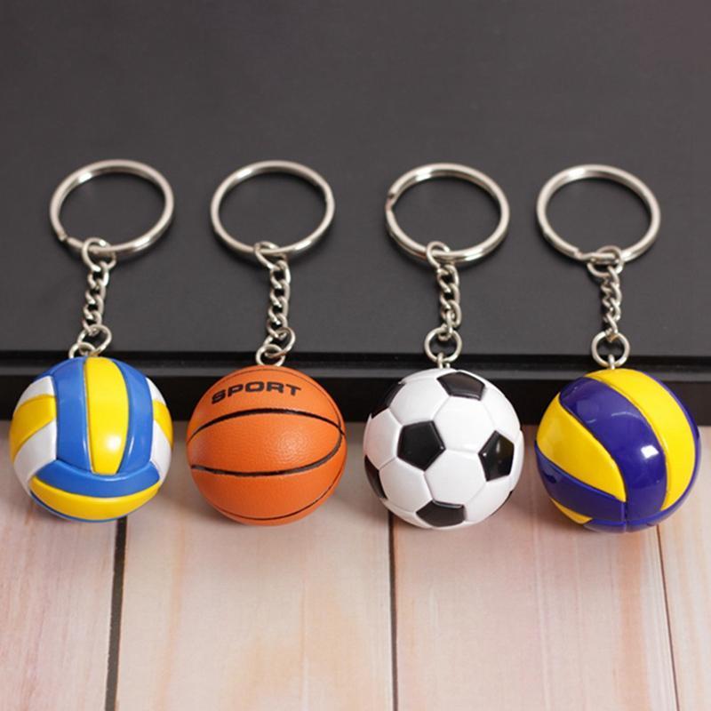 3D-Sport-Basketball-Volleyball-Fußball-Schlüsselketten-Souvenirs-Schlüsselring-Geschenk für Männer Jungen Fans Keychain Anhänger Freund Geschenke