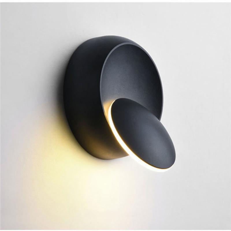LED Wall Lamp 5W 360 Degrees Adjustable Rotation Night Light Bedside Lamp Creative Modern Corridor Aisle