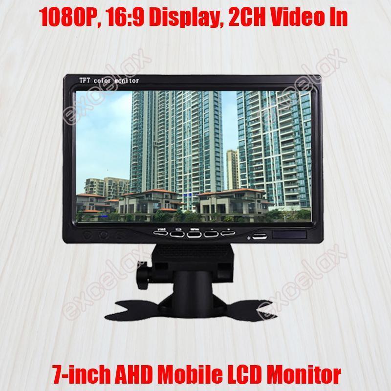 "Boxkameras 7-Zoll 720P 960P 1080P 2MP HD AHD Mobile Monitor 7 ""LCD-Anzeige 2CH A / V Video-Auto Rückansicht für CCTV-Überwachungsfahrzeug M"