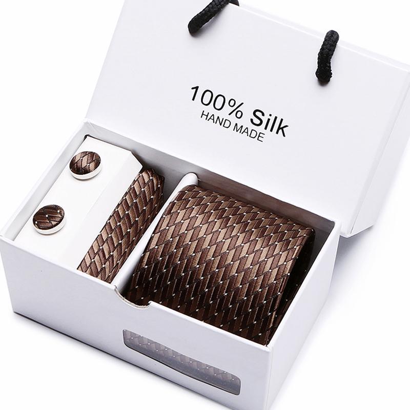 Contenitore di regalo Imballaggio Uomini Cravatta Pocket Pocket Square Matrimonio Mens Collo Collo Cravatta Set di cravatta Set Set Gemelli Gemelli