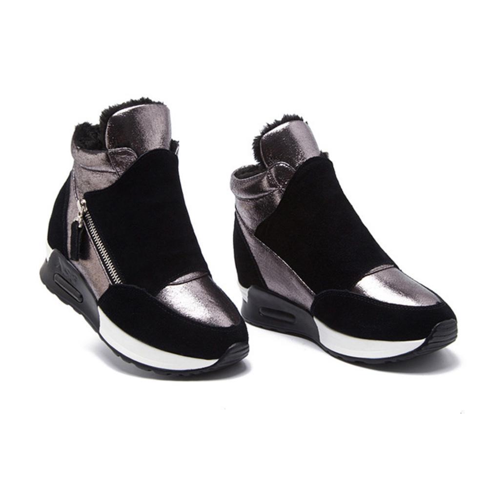 2020 ربيع السويدية الجلود مخبأ أزياء الشتاء في النساء أحذية رياضية زيادة الأحذية أحذية الثلوج KT004