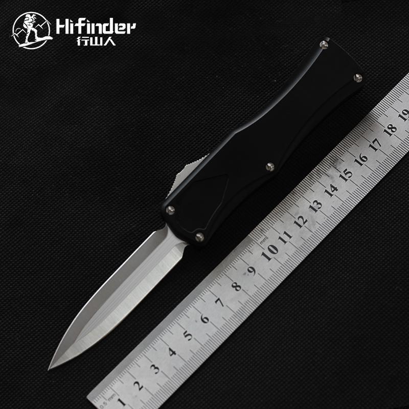 Hifinde coltello fuori il fronte d2 in acciaio doppio bordo di caccia al coltello di sopravvivenza Strumenti di sopravvivenza Camping da esterno Coltelli tattici Pocket EDC