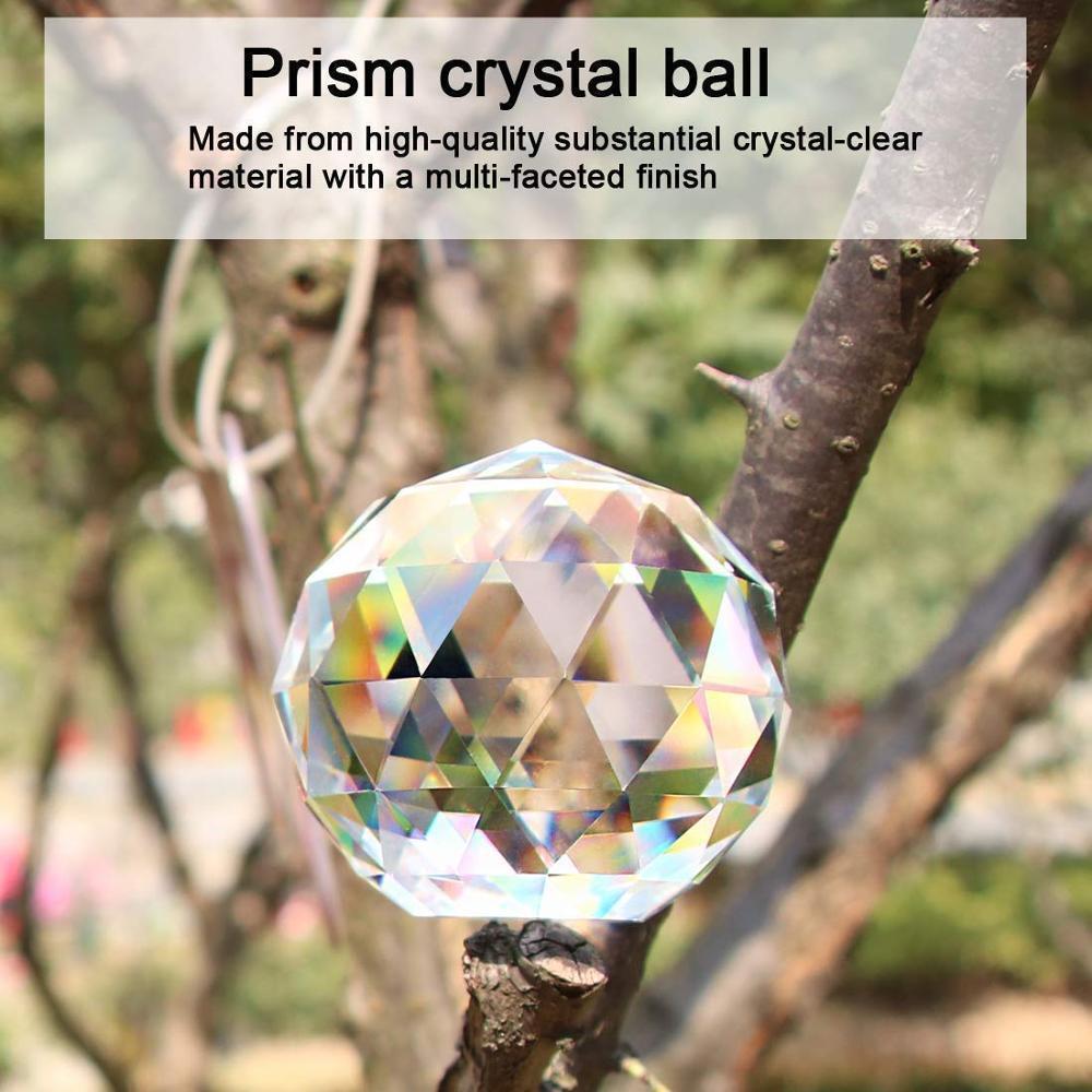 Clear Cut Feng Suncatcher Bbyfcm Rainbow Verre Catchers pour Gazing Shui Faceté Faceté Sun Prisms Sphere Maker Crystal Ball Art Ball H NFCC