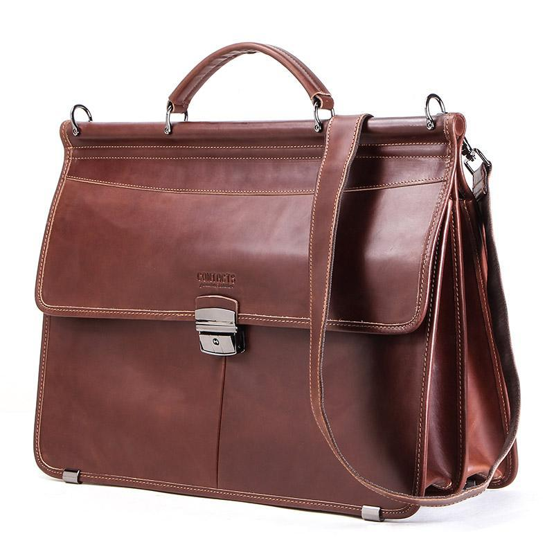 """Çanta için 15.6 """"İş Erkek Evrak Çantası Hakiki Deri Messenger Omuz Çantaları Erkek Tote Çanta Bolsas Casual Erkekler Laptop Hediye"""