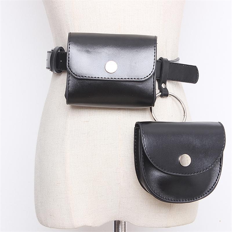 Nuevo 2020 Moda Mujer Bolsos Bolsos Diseñador Bolsa extraíble Cinturón Cartera Femenino Black Belts T200427