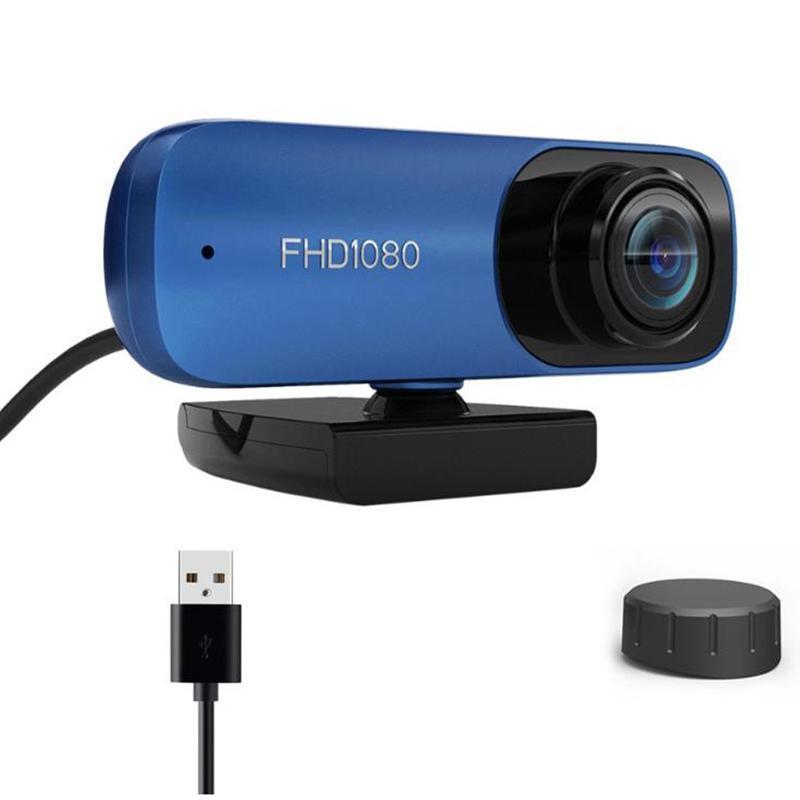 Веб-камера с микрофоном, 1080P HD Treaking USB компьютерная веб-камера [Plug and Play] [30fps] для ноутбука / рабочего стола
