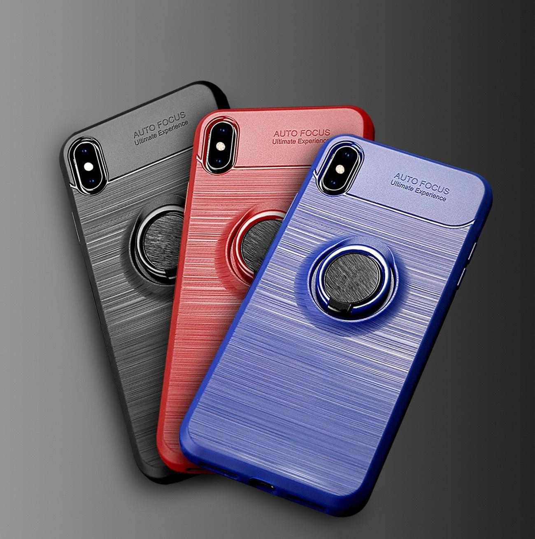Porte-bague 70pcs Bague en silicone brossé pour iPhone 5 6 s 7 8 plus x xs xr xs max cas de voiture montage de voiture housses Fundas Capas Coque Hoesje