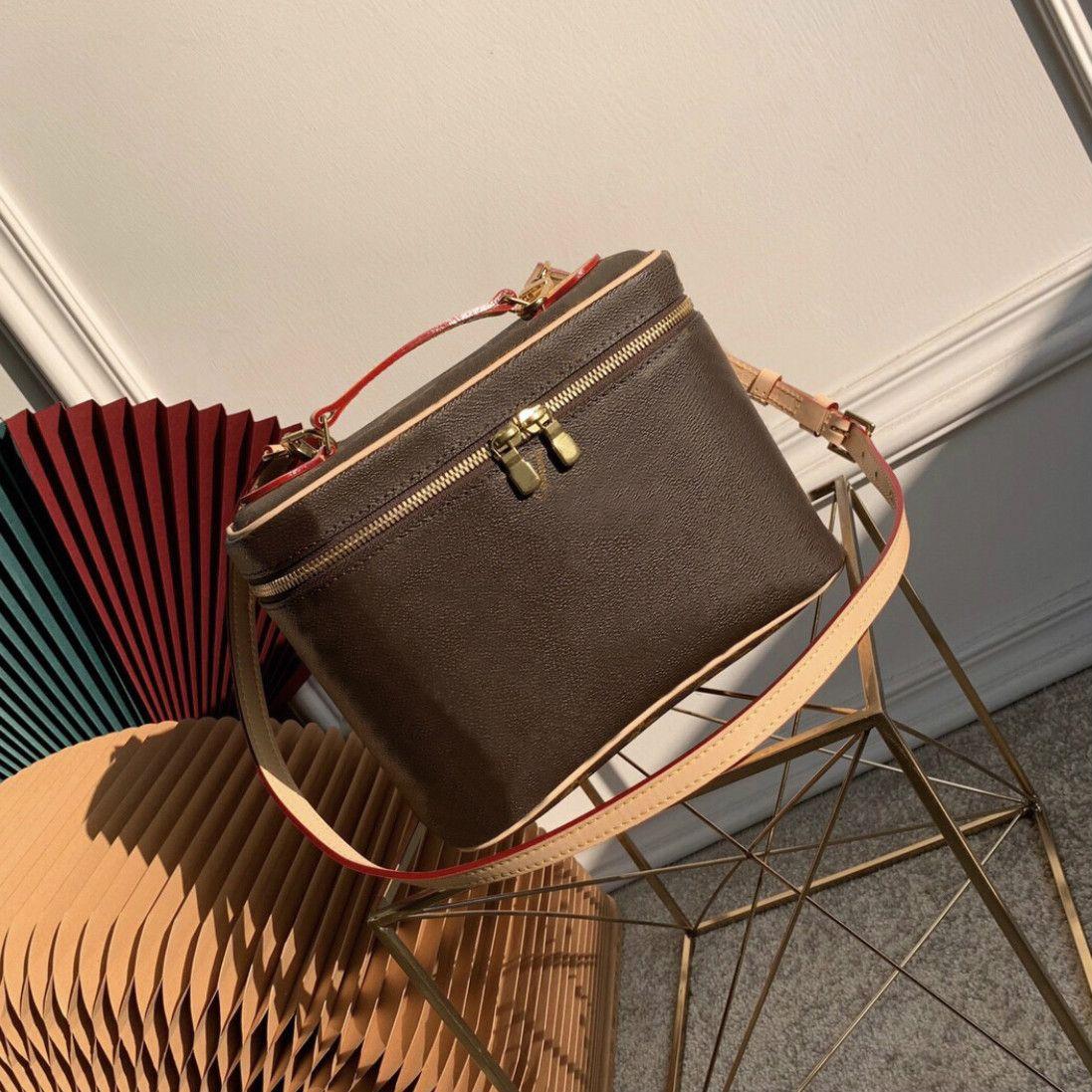 Balde do saco para mulheres de couro saco cosmético clássico ombro cosmético bolsa de bolsa de bolsa de bolsa de bolsa de bolsa de bolsa capa de caso de bolsa whol hvbef