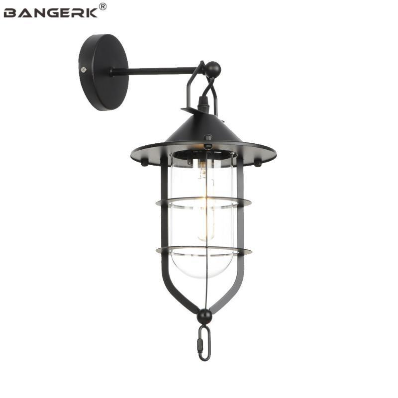Duvar Lambası Vintage Endüstriyel Edison Aplik Işıkları Loft LED Işık Fikstür Demir Cam Başucu Ev Dekor Armatür