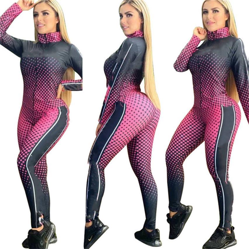 Women jacket pants Sportswear two piece set tracksuit S-2XL letter print cardigan Leggings Fall winter jogger suit dhl 3868