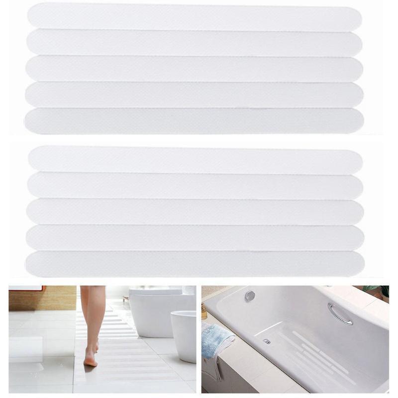 6/21/24 adet kaymaz şeritler duş katı çıkartmalar banyo emniyet şeritler Şeffaf kaymaz bant küvet merdivenler için 2 cm x 20 cm