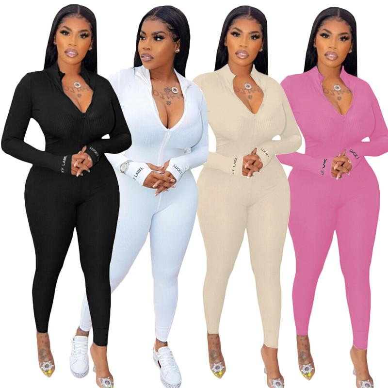 Lucky Label Jumpsuit Solid Color Halte Hallow out Dress Skirt Women Onesie Suits