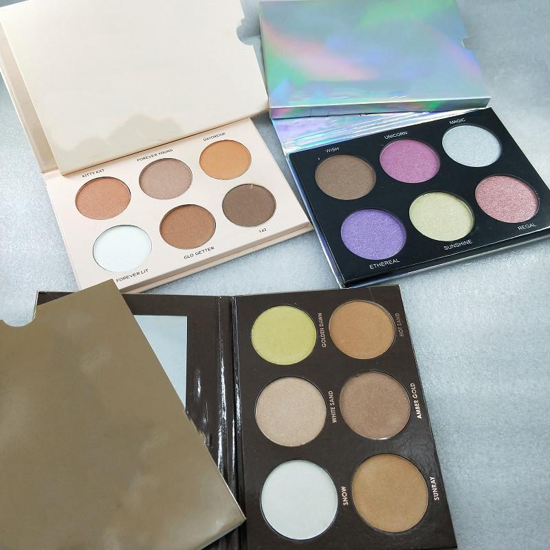 Fabrika Doğrudan Ücretsiz Kargo Yeni Marka Makyaj Göz Farı Paleti Makyaj Yüz 4 Renkler / 6 Renkler Broonzers Fosforlu Oyunları Paleti!