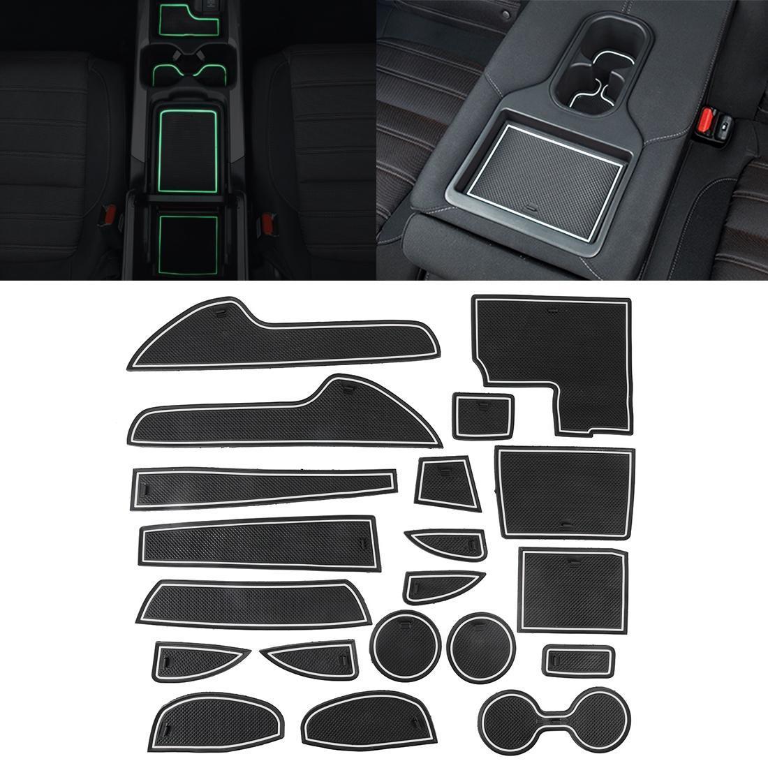 자동차 워터 컵 게이트 슬롯 매트 플라스틱 흰색 발광 안티 슬립 인테리어 도어 패드 Mazda CX-5 2015