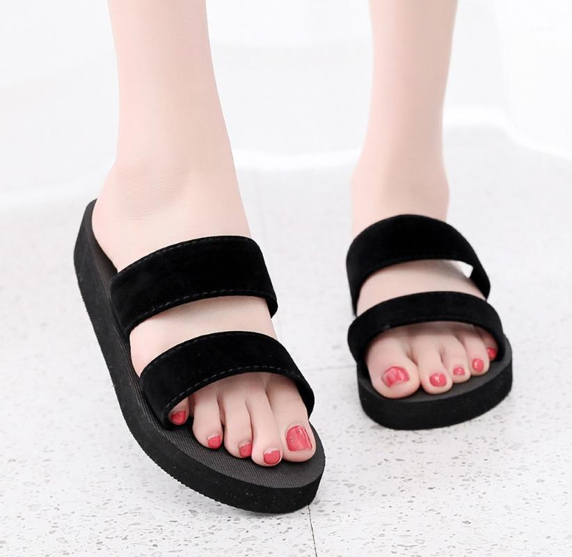 Summer flip flop donne spiaggia casual pantofole da donna ragazze sandali piatti 2020 donna fiori aperti punta scarpe da scarpe traspiranti sandali # 4.301