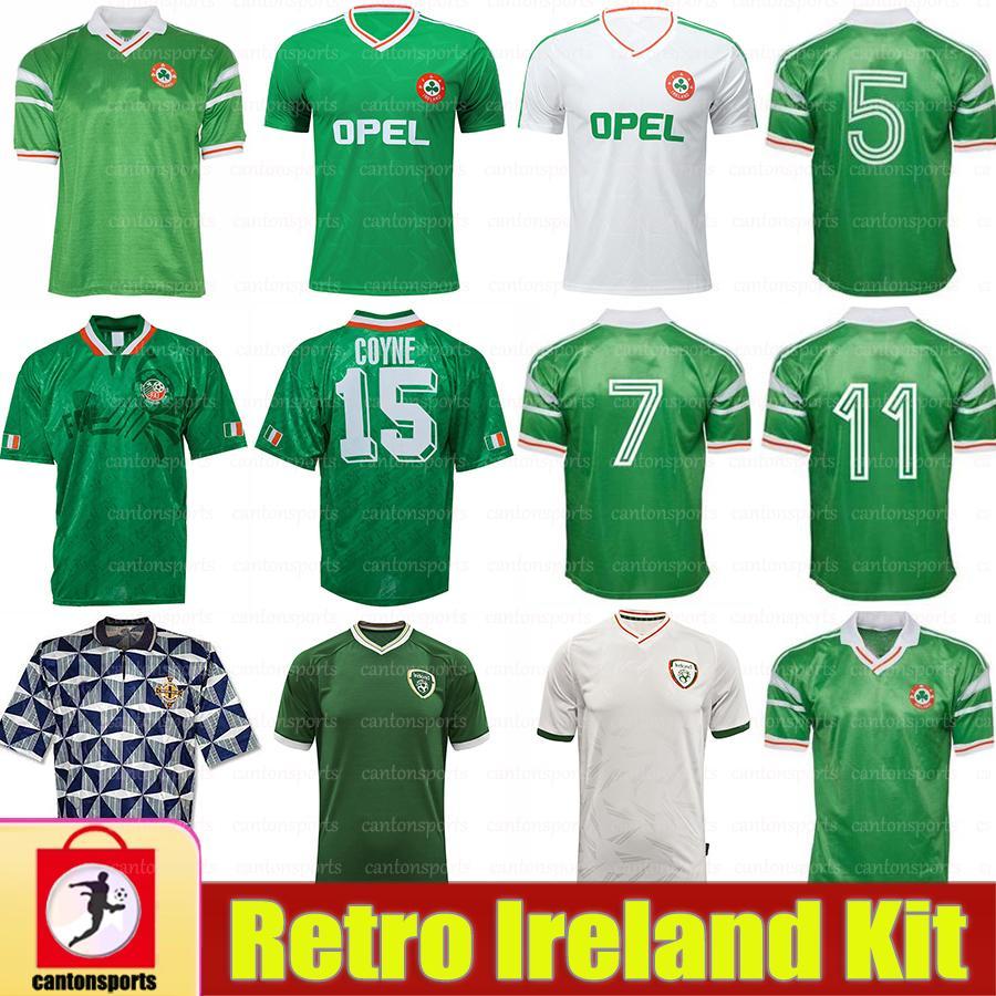الرجعية 1990 1992 1994 1988 أيرلندا لكرة القدم الفانيلة تايلاند 90 93 94 أيرلندا الكلاسيكية خمر الأيرلندية تاونسيند ستاونتون هوتتون لكرة القدم