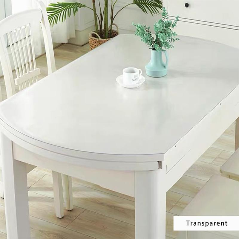 BALLE Transparent PVC Oval Tablecloth Custom Shape Table Cover Protector Desk Pad Soft Glass Dining Top Table Cloth Plastic Mat F1214