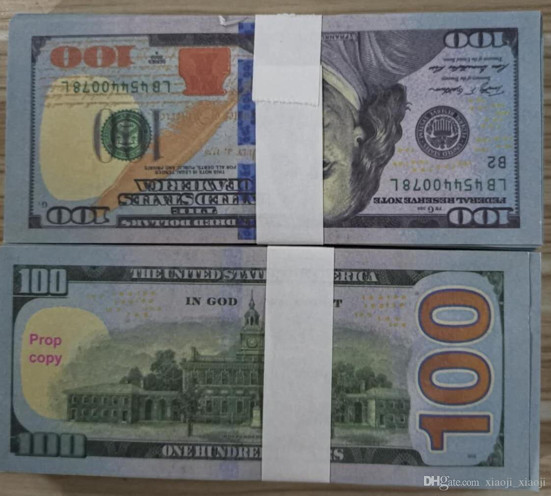 Money Money 03 Fake New100 Prevent Paper pour Copier Banknote Pap Paper Papier Factures en gros Collection Dollar 100PCS / Pack FCFTP