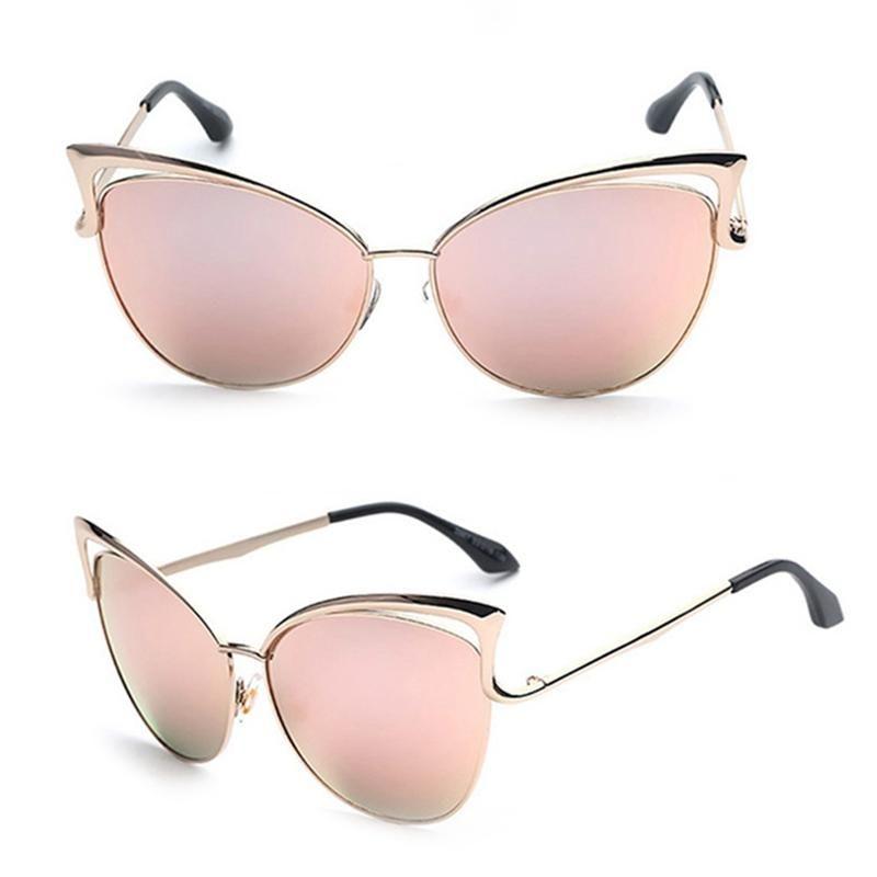 Lunettes UV400 oeil chat cadre femmes lunettes alliage lunettes de soleil lunettes de soleil marque marque rétro dames soleil chat alidn