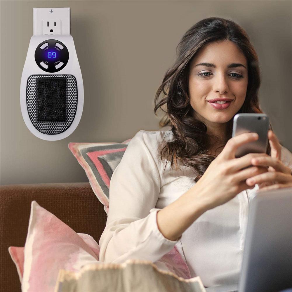 Mini calentador eléctrico portátil de 500W Mini ventilador de ventilador de ventilador ventilador con calentador de control remoto para el hogar de manos eléctricas calentador