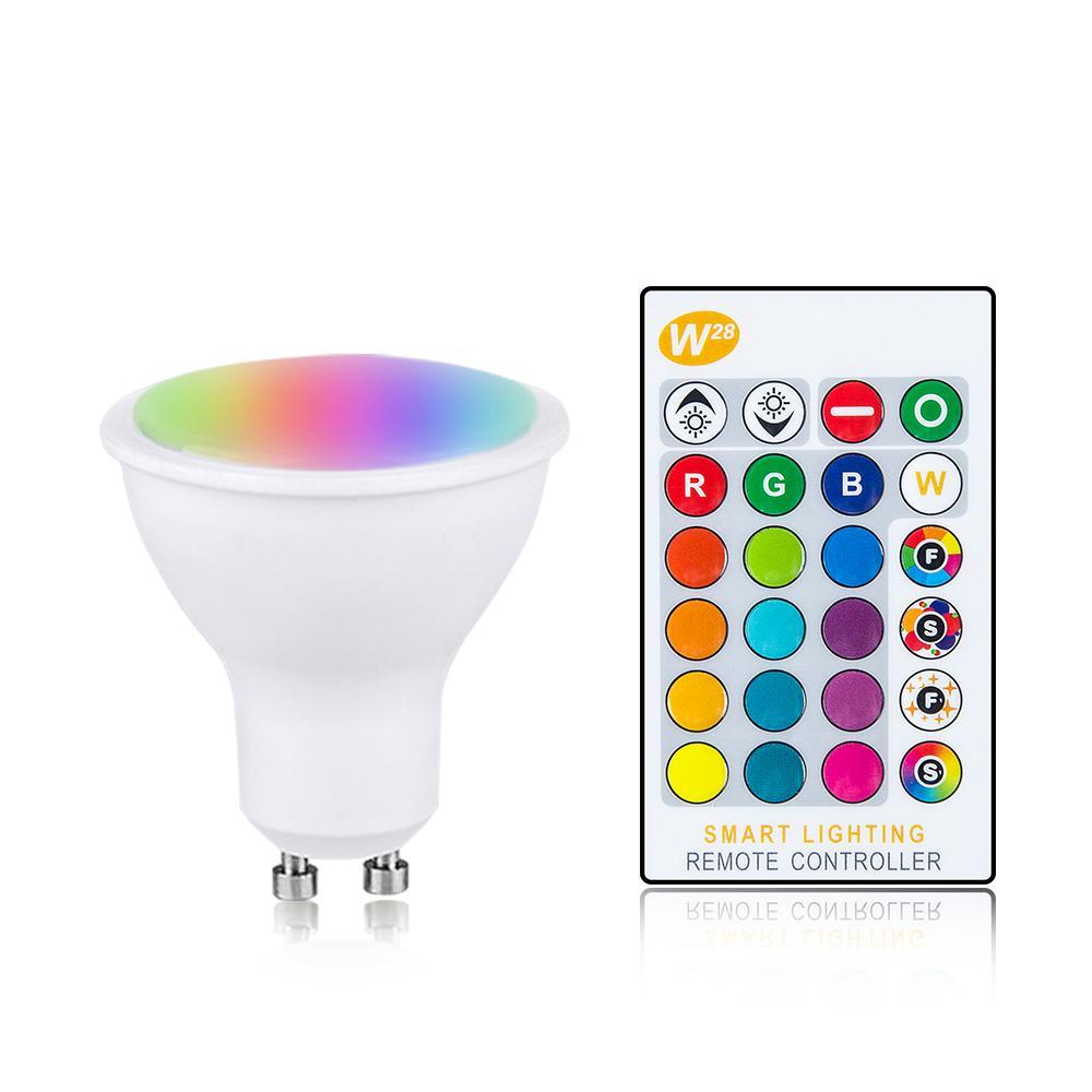 Magia RGB Lâmpada LED GU10 E27 B22 AC85-265V Lâmpada de iluminação inteligente Alteração de cor Dimmable com controlador remoto IR 10W 15W 20W Light