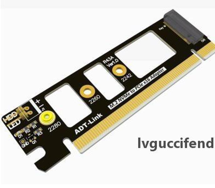 Hakiki Yüksek Kaliteli PCIe 3.0 M.2 NVME M-KEY PCI-E X4 ila X16 ADP Genişletilmiş Adaptörü Kart ADT-Link için Kararlı Çalışma PCIE3.0x4 32g / BPS LED HD