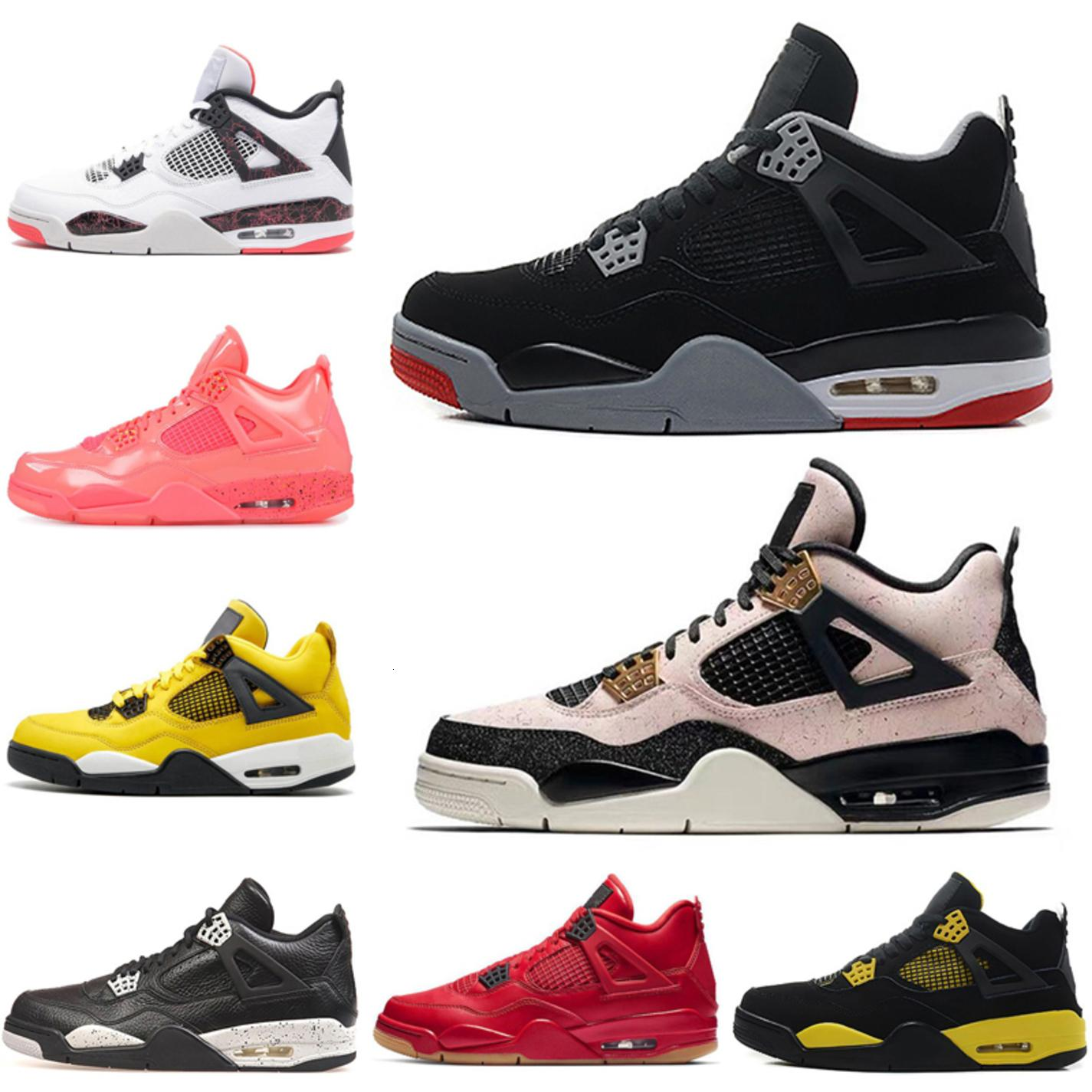 Какие баскетбольные ботинки CORMED 4S 4S 4 FIBA Silt Red Tattoo Raptors Laser Black jum Mens Trainers Athletics Sports Reakers 7-13
