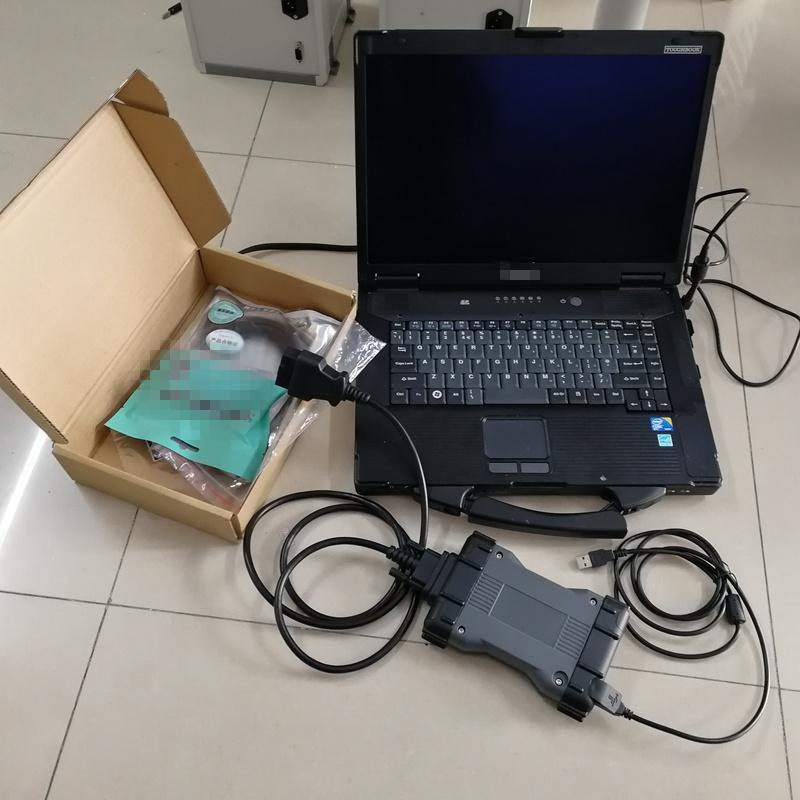 Ferramentas Diagnósticas MB Estrela C6 SSD HDD Auto Diagnóstico Ferramenta Interface Cabos Do DIIP Usado Laptop Toughbook CF52 4G SD