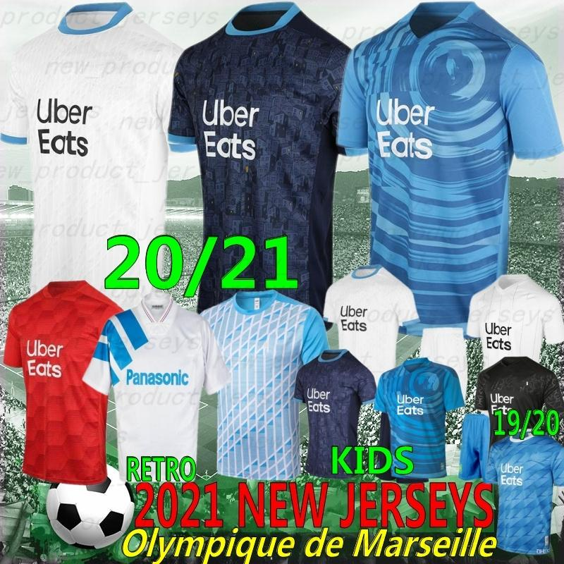 Olympique de Marseille Jersey 21/22 Tailandês 10 Payet 9 Balotelli 26 Thauvin Maillot de Foot Payet Thauvin Benedetto Football Shirts