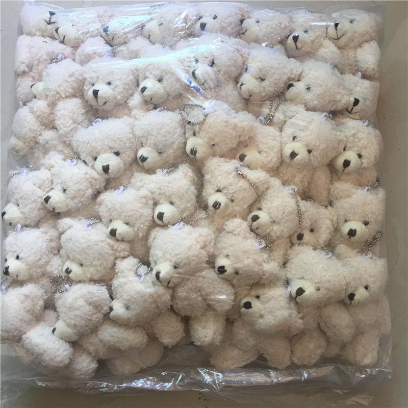 가와이 소형 조인트 테디 베어 체인, 12cm 장난감 테디 베어 미니 곰 테드 벨벳 장난감 선물 y1116