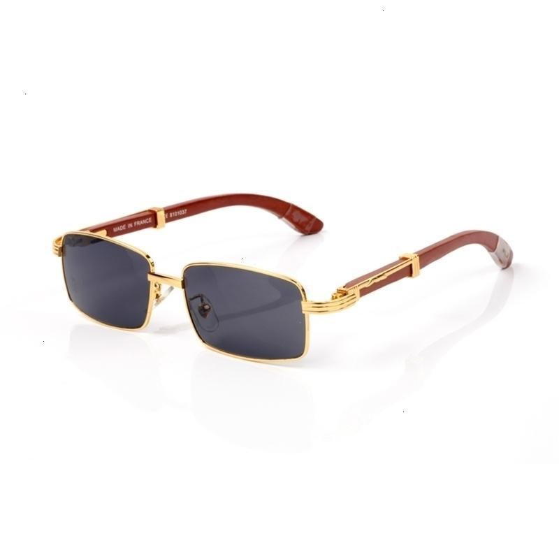 2021 Occhiali da sole rettangolari moda da uomo Ladies senza montatura Piccoli occhiali per lenti in lega classica X2G7