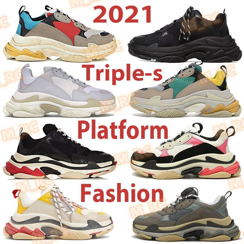 Triple-s hombres mujer plataforma zapatos altura aumento beige verde amarillo gimnasio rojo azul triple blanco negro rosa gris moda hombre vintage casual zapatilla de deporte