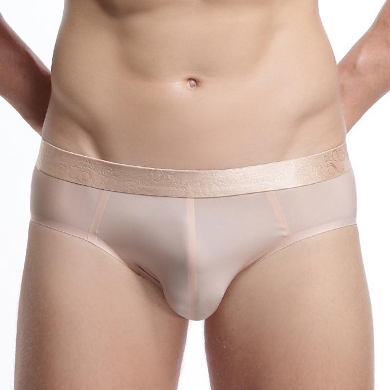 Herren kalte Seidekühle ohne Nähen von Unterwäsche, harte Shorts, Unterwäsche