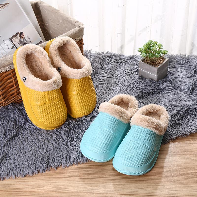 Hiver 2021 Girl Goy garçon enfants sabots enfants imperméable croc chaussures Chaussons de maison antidérapante Taille 31/32 33/34 35/36 201127