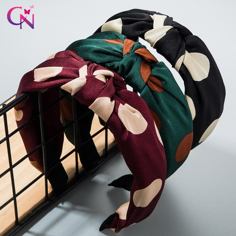Аксессуары для волос CN DOT завязанные волосы для девочек Женщины Простая ткань широкий BRIM Плиссированные повязки Летние обручи Мода
