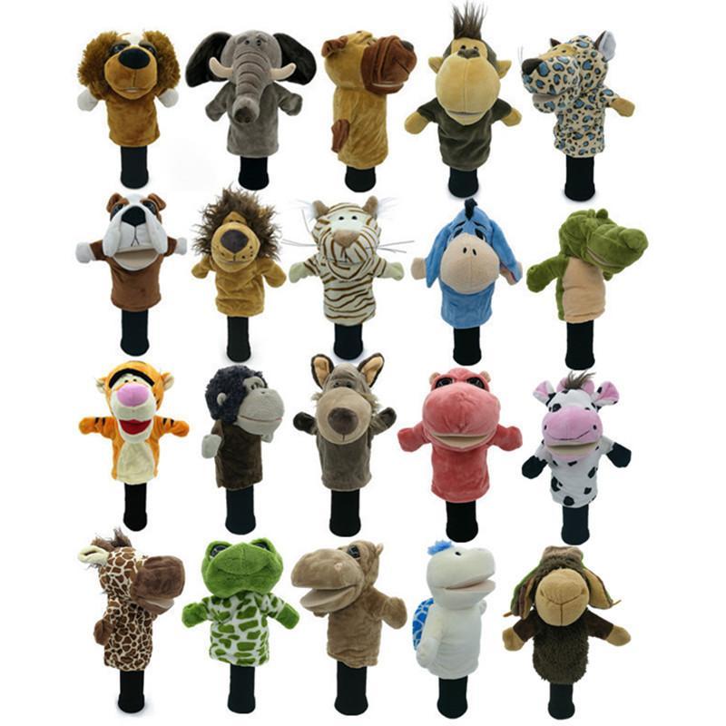 Todo tipo de animales Cubiertas de cabeza de golf Ajuste a Fairway Woods Men Lady Golf Club Cover Mascot Novelty Linda regalo 201028