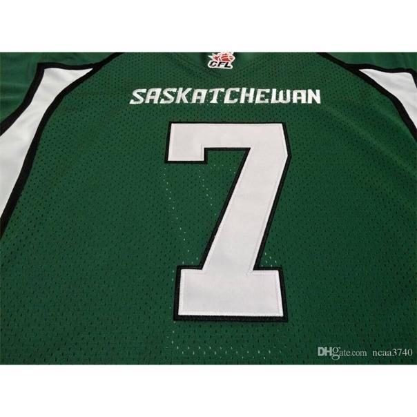 Seltene 604 Jugendfrauen Vintage Saskatchewan Rauhreiter # 7 Cody Fajardo Football Jersey Größe S-4XL oder benutzerdefinierte Name oder Nummer Jersey