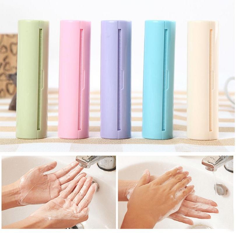 5 estilos jabón papel rebanado perfumado rollo de pañuelos escamas rebanada de la piel cuidado de la piel cuidado desechable jabón portátil viaje mini papel jabón