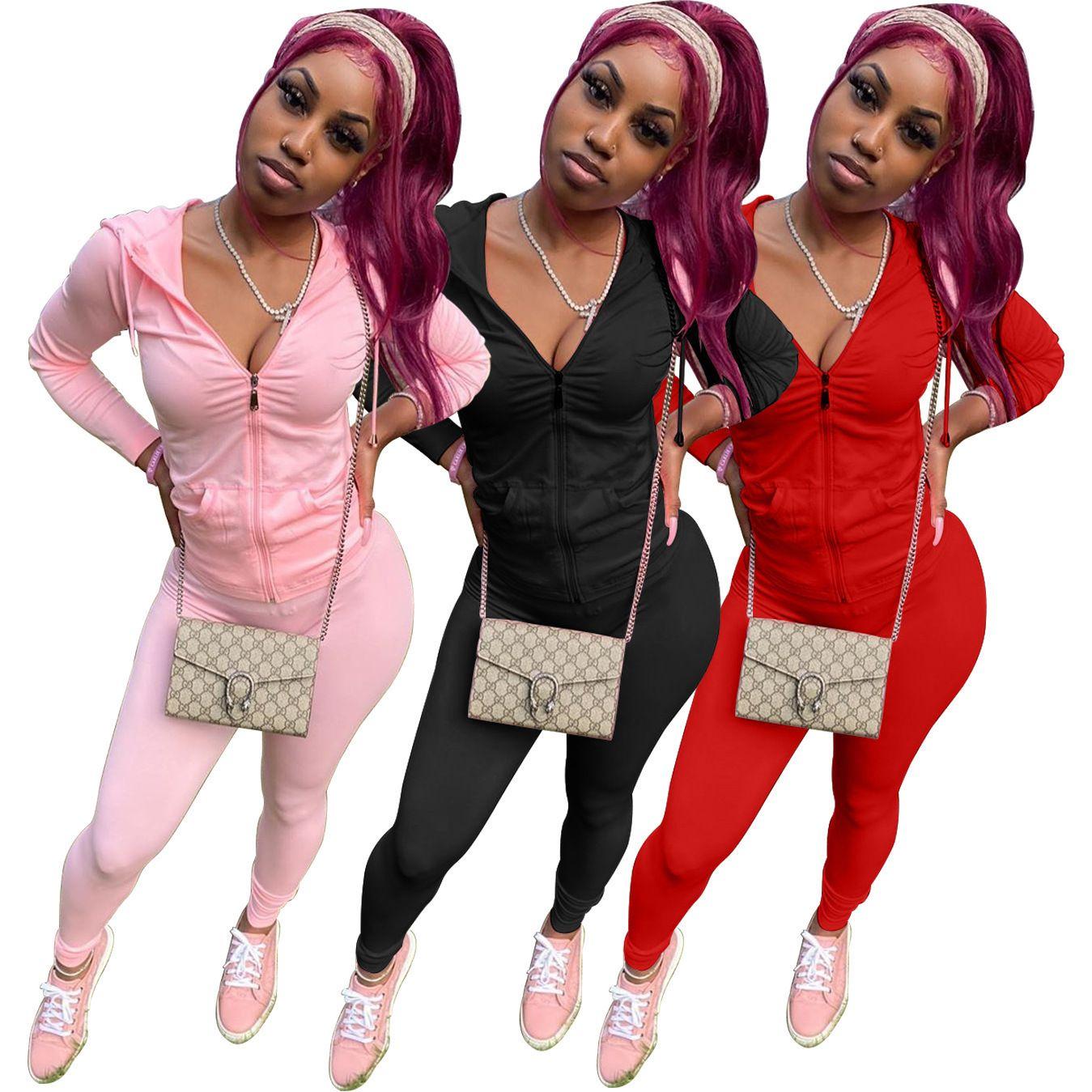 7 piezas Conjuntos Chándales Diseñadores Ocio 2021 New Fashion Coat Sports Joggers Dos Plus Ropa Colores Traje Mujer Conjunto Conjunto Conjunto Tamaño TelaJ