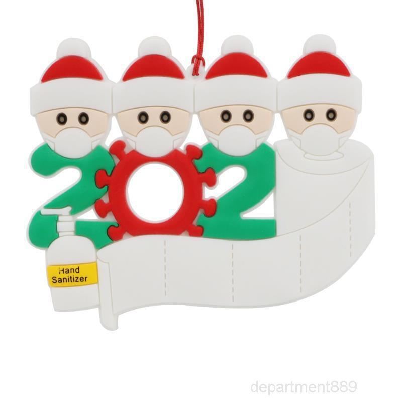 Ornement Personnalisé Survivor Famille 2 3 4 5 6 7 Décorations de résine Masqua Pendentif arbre de Noël lavé à la main OWC2457