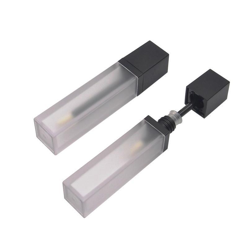 7ml Tubes de brillance en plastique givré en plastique Mini échantillon Conteneur cosmétique vide Lip Glaze emballage Bouteilles WB2995