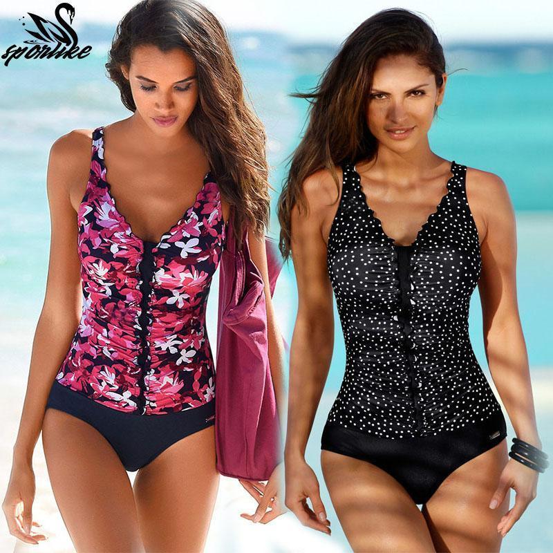 2020 новый плюс размер купальники женщины купальник цельный купальник мягкий купальный костюм полька принция высокая талия бикини набор пляжная одежда1